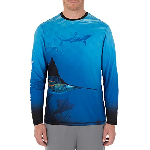 Guy Harvey Men's Sublimated Sun Protection Top-Large