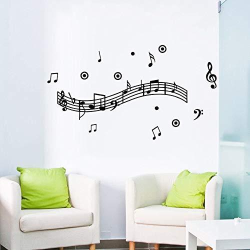 LovelyHomeWJ Music Melody Wall Murals Wallpaper para la decoración del hogar Vinyl Art Stave para Sala Música Party Supply
