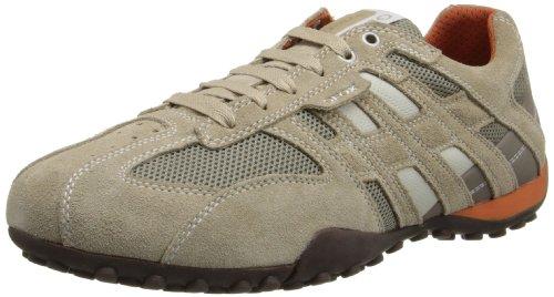 Geox Herren UOMO SNAKE K Sneaker, Beige (BEIGE/DK ORANGEC0845), 43 EU