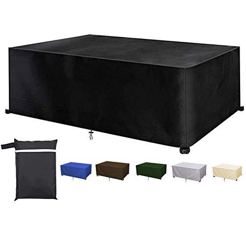 Yurun - Abdeckhauben für Möbelsets in Schwarz, Größe 120x95x75cm(LxWxH)