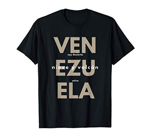 Venezuela Arte Soy Desierto Selva Nieve y Volcan2 Camiseta