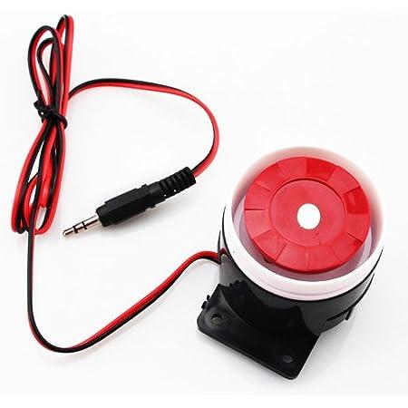 Sirena estrobosc/ópica 12V Alarma Cableada Sirena estrobosc/ópica Sirena de Sonido Luz Intermitente Sistema de Alarma de Seguridad DEWIN Alarma Cableada
