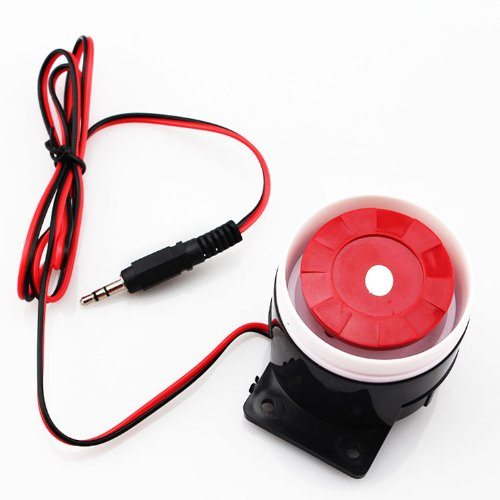 Minisirena con cables, sistema de alarma de seguridad para el hogar, 120 dB 12 V