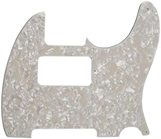 Fender 4-Ply 8-Hole Pearloid Pickguard for HS Telecaster Electric Guitar, Aged White