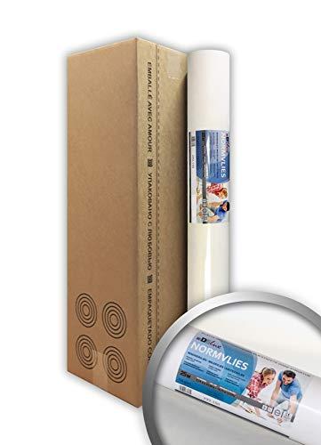 PRO[f]home® - NORMVLIES 150 g Renoviervlies 1 Karton 4 Rollen 75 m2 Glattvlies 299-150-4 Malervlies glatte überstreichbare Vliestapete weiß