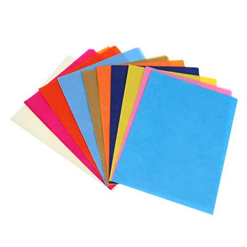 Healifty 10 Piezas de Papel de Seda Colorido para Papel de Regalo Manualidades Flores de Papel Diy Borla Guirnalda Y Más (Mezcla de colores)