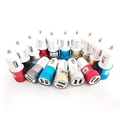 (50-Packs) Car Chargers Dual Port USB Charging Wholesale Bulk Lot 2A Fast Charge