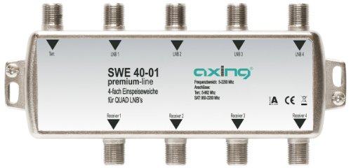 Axing SWE 40-01 SAT Einspeiseweiche für Quad-LNB (4-fach)