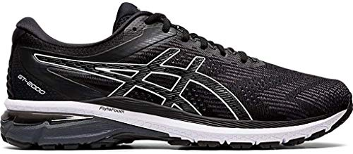 ASICS Men's GT-2000 8 (2E) Shoes, 10.5W, Black/White