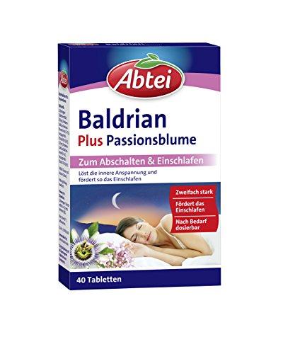 Abtei Baldrian + Passionsblume Dragees, 40 Stück, 1-er Pack (1 x 58 g)