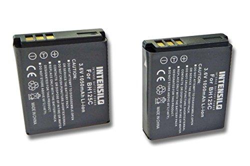 INTENSILO 2X Li-Ion Akku 1050mAh (3.6V) kompatibel mit Kamera Camcorder Video Pentax Optio X90 Ersatz für D-Li106, Sigma BP-41.
