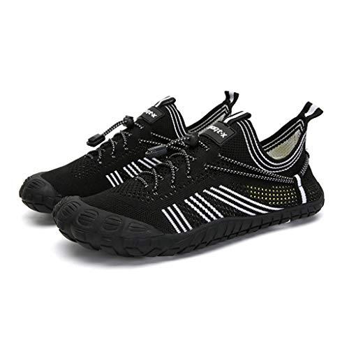 GDSSX Zapatos de Agua de Malla para Hombres y Mujeres Zapatos de Playa Transpirables para Mujer al Aire Libre zafado Zapatos a la Deriva de Secado rápido Secado Rápido (Color : Black, Size : 47 EU)