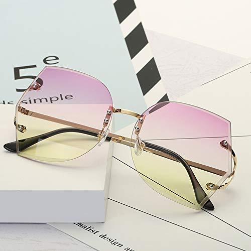 Anself Moda Ocean Film Sunglasses Eyeglass UV 400 Proteção Irregular Lens Sunglasses for Men and Women