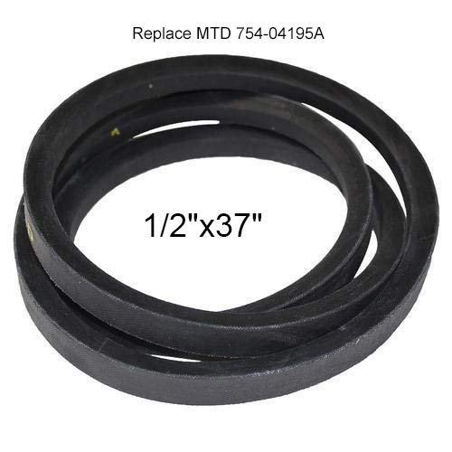 954-04195A Snow Thrower Auger Belt Replace MTD 754-04195 Cub Cadet 26' 3 Stage Snow blowers