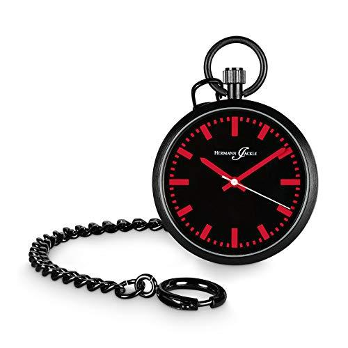 Hermann Jäckle Berlin - Reloj de bolsillo de cuarzo, color rojo