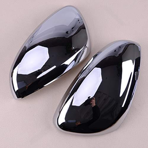 Scheinwerfer Glasabdeckung 2ST ABS Chrom-Auto Überzogene Seiten Rearviewspiegelabdeckung Trim Silber Fit for Peugeot 208 2013 2014 2008 2015 2016 2017