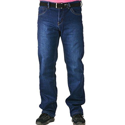 VIMAN Denim Fens Herren Jeans Übergröße Warme Winterhose Thermohose Winterjeans Gefuttert W30-W44 (W39)