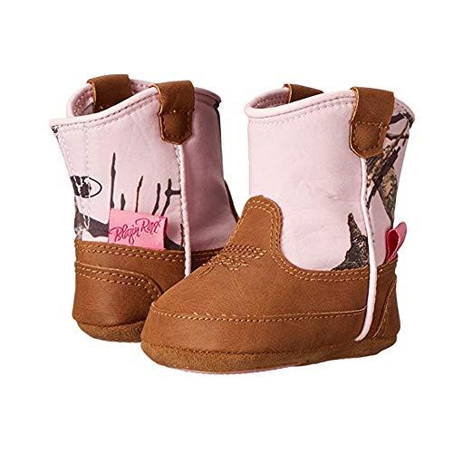 M&F Western Kids Baby Girl's Infant/Toddler Jobie Bucker Boot, Mossy Oak/Pink, 1
