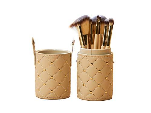 Estojo de pincéis para maquiagem com 12 unidades - Daroge