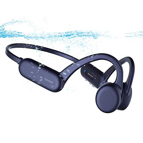 Auriculares de Natación de Conducción ósea Auricular Inalambricos con Bluetooth MP3, 8G Reproductor de MP3 para Natación, IPX8 Impermeable Cascos Deportivos...