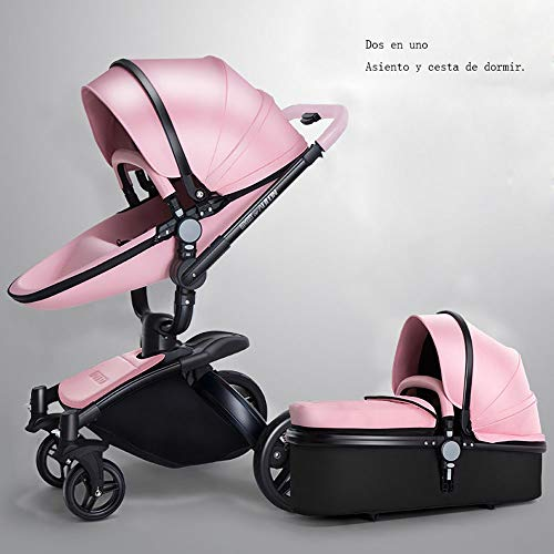 GAOJI Poussette combinée Fashion,Six Couleurs Pushchair Berceau Travel-System