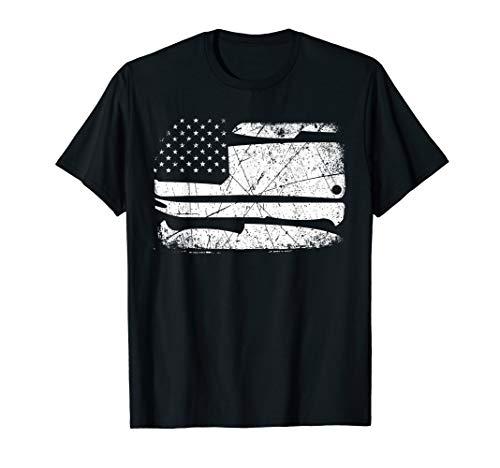 Chef Knife Patriotic Flag Apparel Item T-Shirt