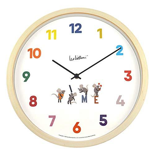 壁掛け時計 おしゃれ 木製 音がしない 時計 かわいい ウッド レオ・レオニ Leo Lionni シルヴァン sylvan 北欧 アニマル ポップ インテリア