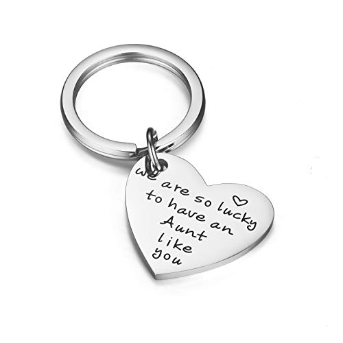 CJ&M Aunt Keychain - Aunt Jewellery- Keychains for Aunts - Aunt Gift - Gift for...