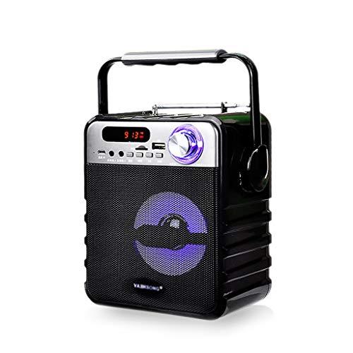 Zyj stores-Casse acustiche Altoparlante Bluetooth di Grande Potenza Subwoofer Bassi potenti Stereo Altoparlanti ktv Wireless Radio FM TF Lettore Musicale USB (Color : A)