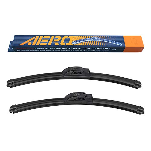 OEM QUALITY 24' + 19' AERO Premium All-Season Windshield Wiper Blades (Set of 2)