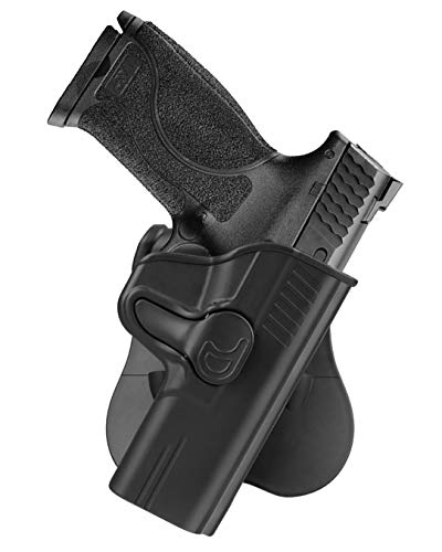 cavebear OWB Paddle Holster Fits 4.25' Barrel Smith & Wesson M&P 9mm/40, S&W M&P 40/9mm M2.0 Full-Size(Not Shield), S&W SD9 VE/SD40 VE, Outside Waistband Tactical Gun Holsters - Right Handed