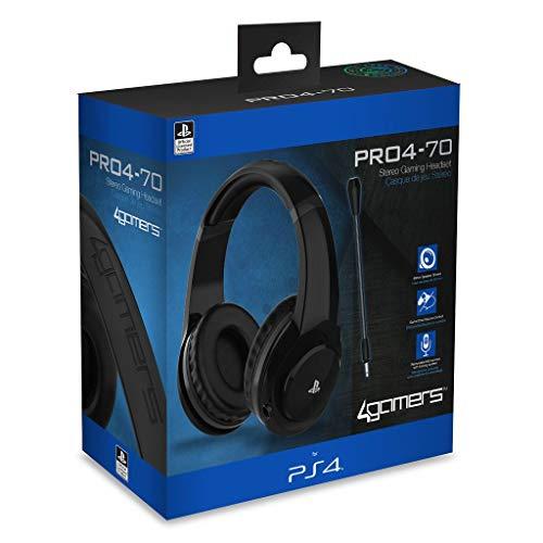 4 Gamers - PRO4-70 Negro Auricular Gaming, Licenciado (PS4)