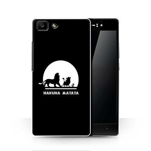 Hülle Für Oppo R5 Karikatur Afrikanische Tiere Hakuna Matata Design Transparent Ultra Dünn Klar Hart Schutz Handyhülle Case