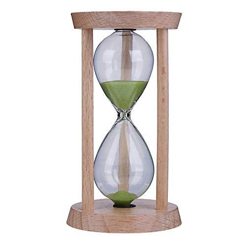 FUNRE Sanduhr-Sand Uhr 3 Minuten Sanduhr Sanduhr Kinder Zahnbürste Timer Zeitzähler-Kind-Geschenk-Hauptdekoration (Color : Green)