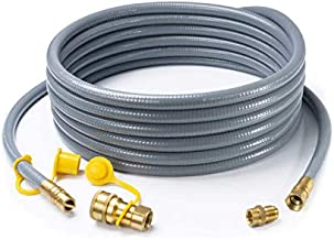 GASPRO 1/2-Inch Natural Gas Quick Connect Hose for BBQ, Grill, Patio Heater, Generator and More NG Appliance, 24-Foot