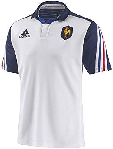 Adidas France 2013 14 - Maillot de Rugby Réplique Alterné MC Blanc Marine