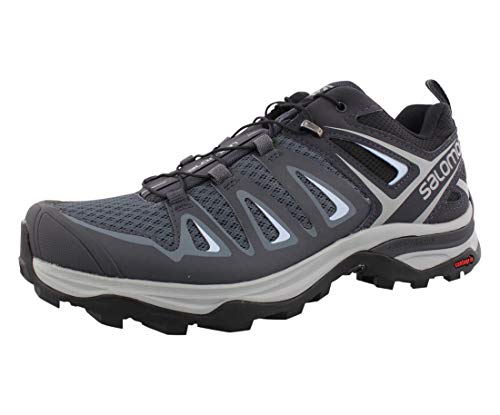 Salomon Women's X Ultra 3 Hiking Shoes, Stormy Weather/Ebony/Cashmere Blue, 10