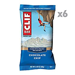 CLIF BAR - Energy Bars - Chocolate Chip - (2.4 Ounce Protein Bars, 6 Count)