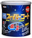 アサヒペン ペンキ 水性スーパーコート 水性多用途 こげ茶 1.6L