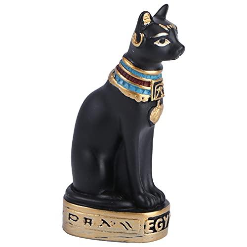 BESPORTBLE Egipto Diosa Gato Bastet Estatua Antiguo Egipto Kitty Egipcia Bastet Escultura Egipcio Figurita Coleccionable Decoración de Escritorio