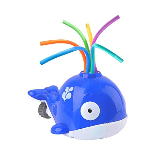 Splash Whale Yard Water Sprinkler - Hydro Swirl Spinning Water Sprinkler Toy for Kids Outdoor Play