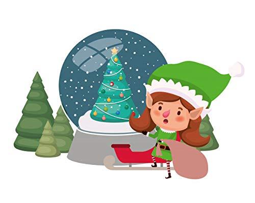 Aaubsk Puzzle 1000 Piezas Elf Clip Art Christmas Series 67 Art Gifts Puzzle 1000 Piezas educa Rompecabezas de Juguete de descompresión Intelectual Colorido Juego de ubicación.50x75cm(20x30inch)