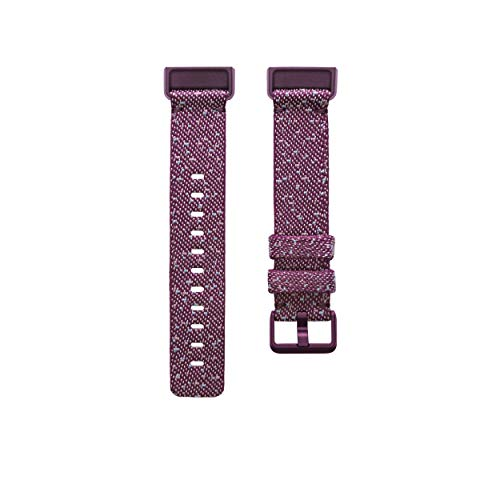 Fitbit Charge 4 Accessory Band, Official Fitbit Product, Woven, Rosewood, Small