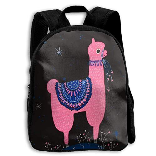 Rose Llama Alpaca Toddler Backpack 13 'Sacs à Dos d'école d'enfants pour garçons et Filles