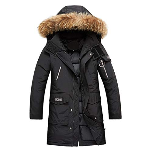 Fantastic Prices! Muranba Mens Winter Coats Autumn Winter Large Size Hooded Coat Thickening Long Sle...