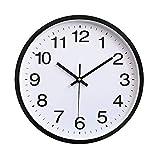 FANJUANMIN Reloj de pared clásico clásico de 2 colores, reloj de pared moderno Plasitc reloj de cuarzo Horloge retro para decoración del hogar (color: negro, tamaño: 12 pulgadas)