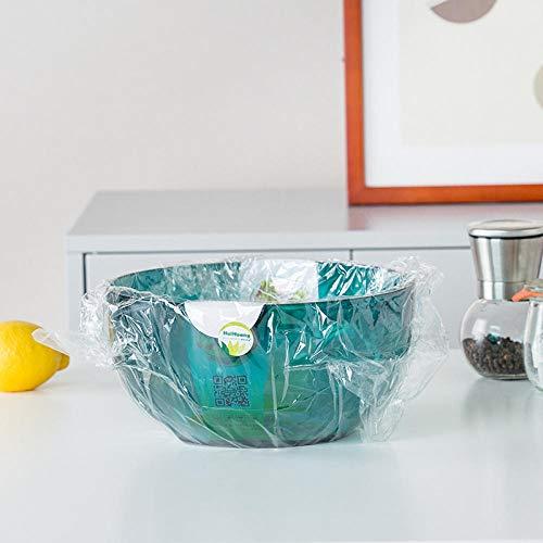 HYLLL Saladier Bol Engrand Saladier en Plastique Transparent Tricolore-Vert Foncé 23 * 23 * 11.3