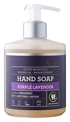 Urtekram Purple Lavender flüssige Handseife Bio, mit aktiven Probitika, 380 ml