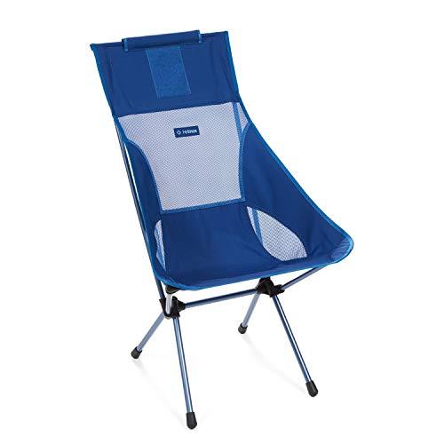 Helinox Sunset Chair | Mit seinem erweiterten Design ist Dieser Stuhl möglicherweise die ultimative Kombination aus Verstaubarkeit, Komfort und Unterstützung (Blue Block)