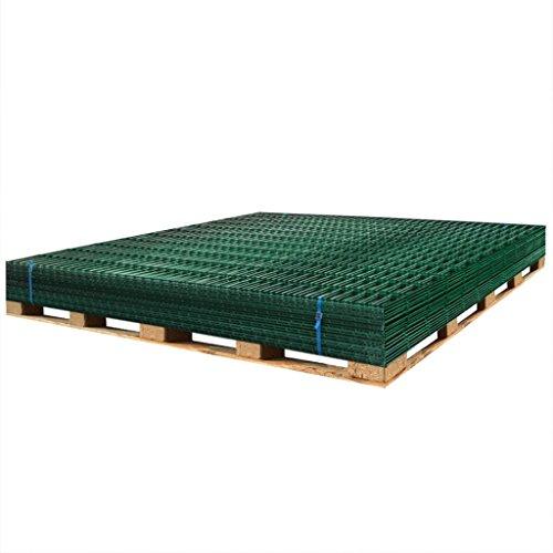 Festnight Panneaux de clôture en Acier de Jardin clôture de Ferme Longueur 2m/Hauteur 1830mm Vert
